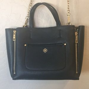 Ann Taylor open satchel with removable strap